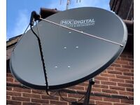 1.4 metre Large Satellite Dish with mount. Brand new. Slight second (see below). Steel. Mix Digital