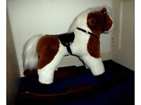 Rocking Horse - soft fur on wooden rockers