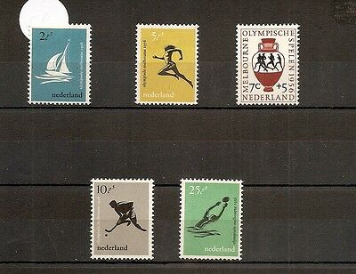 Netherlands 1956 SG831-5 5v set NHM Melbourne 1956 Olympic Games