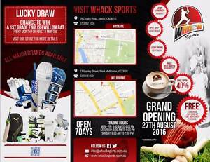 Retail Store specializing in Cricket Equipments Albion Brisbane North East Preview