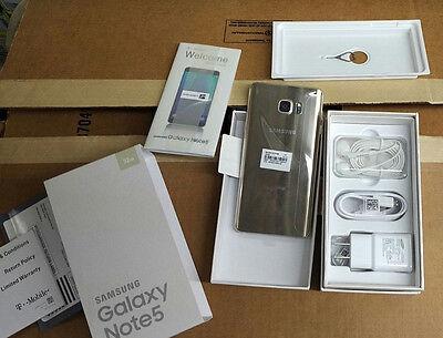 Samsung Galaxy Note 5 SM-N920 - 32GB - Gold Platinum (T-Mobile) Smartphone