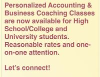 Tutoring - Accounting, Economics, Business, Management