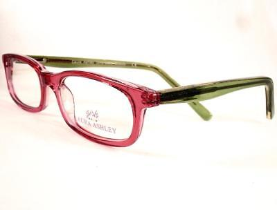 Laura Ashley Girls Little Beauty Bubble Gum Eyeglasses Frames (Little Kids Glasses)