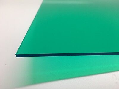 Teal Green Transparent Acrylic Plexiglass Sheet 18 X 6 X 12 2120
