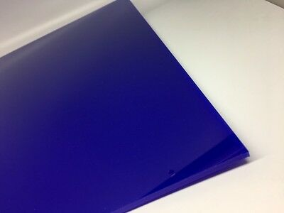Berry Blue Translucent Acrylic Plexiglass Sheet 18 X 6 X 12 2116