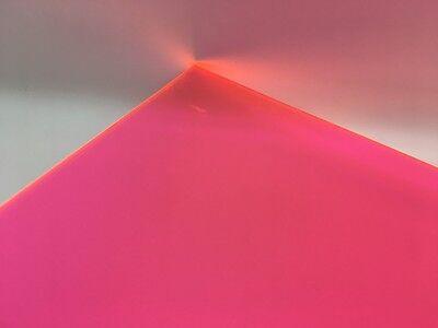 Pinkorange Fluorescent Acrylic Plexiglass Sheet 18 X 12 X 12 9094