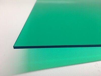 Teal Green Transparent Acrylic Plexiglass Sheet 18 X 12 X 24 2120