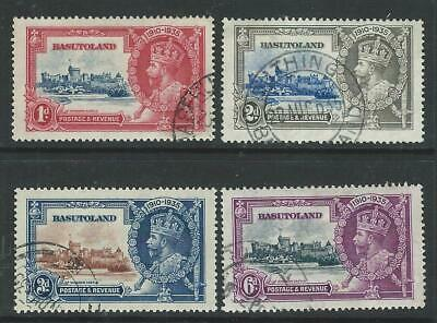 BASUTOLAND - SG11-14 - 1935 SILVER JUBILEE SET OF 4, VFU - CV £21+