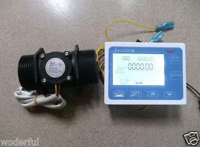 "NEW 1.5"" Flow Water Sensor Meter+Digital LCD Display control 1-120L/min"