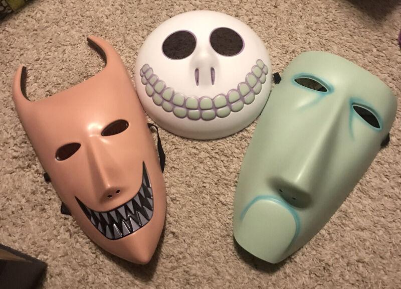 Disney Nightmare Before Christmas Lock Shock Barrel Halloween Costume Mask Set 3