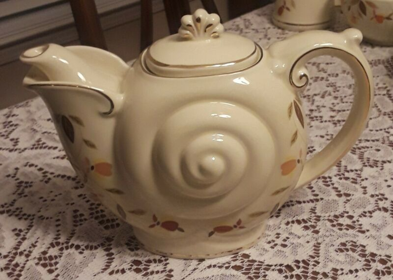 Hall Autumn Leaf Club 1996 Teapot RARE NEW