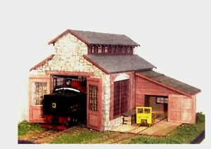S-SCALE-Sn3-Sn2-WISEMAN-MODEL-SERVICES-BACKWOODS-ENGINE-HOUSE-REPAIR-SHED-KIT