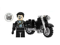 Custom Terminator T-800 Brick Minifigure Schwarzenegger Cyberdyne Endoskelet