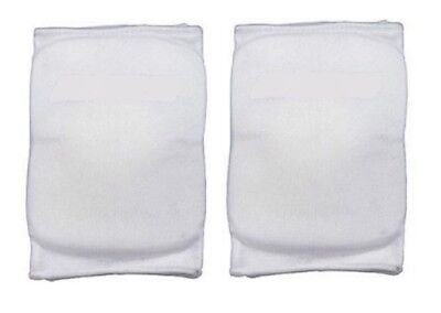 Martin Sports Volleyball Basketball Knee Pads White, Small 1 Pair Elastic Sleeve
