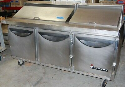 Victory Triple Door Stainless Refrigerated Prep Table Model Vup-6-30bt