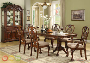details about brussels formal dining room set 9 piece w china cabinet