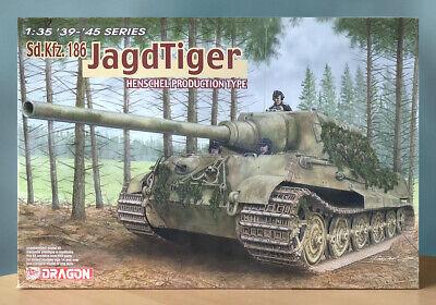 Dragon 1/35 Sd.Kfz.186 Jagdtiger Henschel Production 6285 Ships from USA