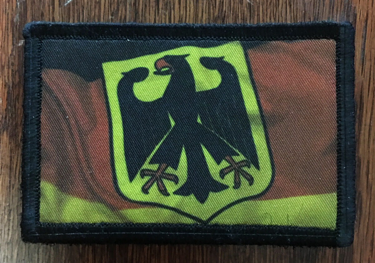 WWII German Tiger Tank Morale Patch Tactical ARMY Hook