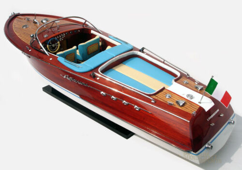 Super Riva Lamborghini Handmade Wooden Model Speedboat