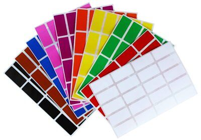 Rectangle Name Tags - Rectangular Color Coding Stickers Assorted Colored Name Tags Labels 200 Pack