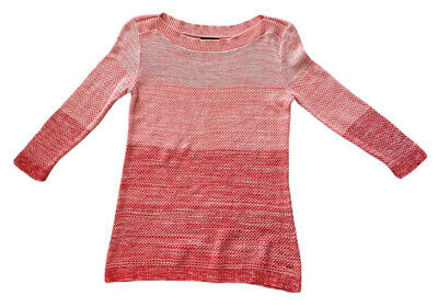 TOMMY HILFIGER WOMEN'S SWEATER GRADED PINK SIZE S - FREE SAME DAY SHIPPING
