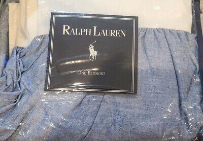 Ralph Lauren Denim Chambray Blue Dust Ruffle Bedskirt - Twin New