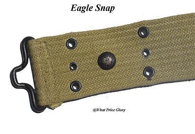 Mills M1912 Pea Green Pistol belt with Eagle Snap - Original size