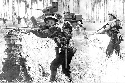 1930s-40s (6 x 4) Repro Australian RP- Panzer- M5 Stuart Tank- Bren Gun- Combat