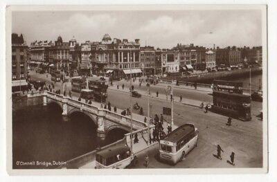 O'Connell Bridge Dublin Ireland 1935 RP Postcard 812b
