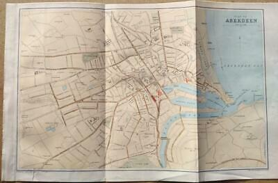 c1880; City plan of Aberdeen; Scotland; Bartholomew