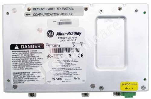 Allen Bradley 2711P-RP1 /D PanelView Plus Logic Module 64MB Flash 64MB RAM DC