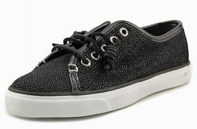 Neu in Box Sperry Top-sider Damen Seacoast Cavier Sneaker Schwarz Sparkle Sz 5.5 ()