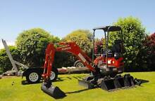 MINI EXCAVATOR HIRE Camp Hill Brisbane South East Preview
