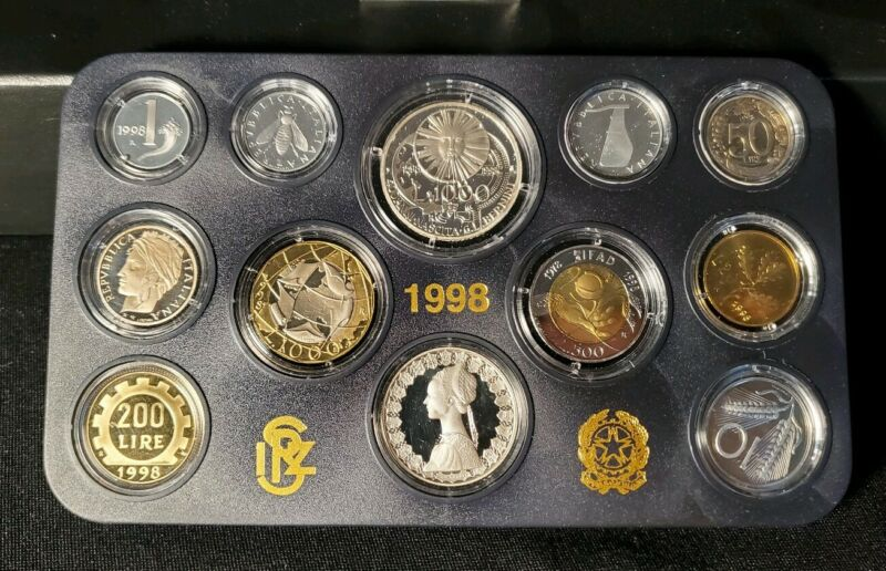 ITALY 1998 - 12 Coin PROOF set
