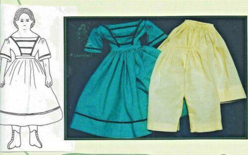 """15""""ANTIQUE CHINA HEAD/PARIAN GREINER DOLL DRESS UNDERWEAR SLIP DRAWERS PATTERN"""