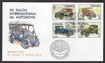 1977 Spain Cover - Vintage Automobiles - XII Salon International, Cars