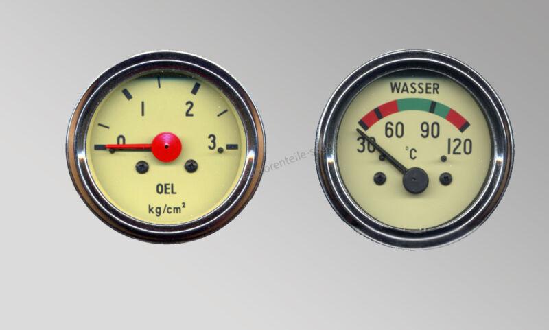 Instrumentensatz Hanomag ab BJ 1960 Öldruckmanometer Fernthermometer z.B. Granit Foto 1