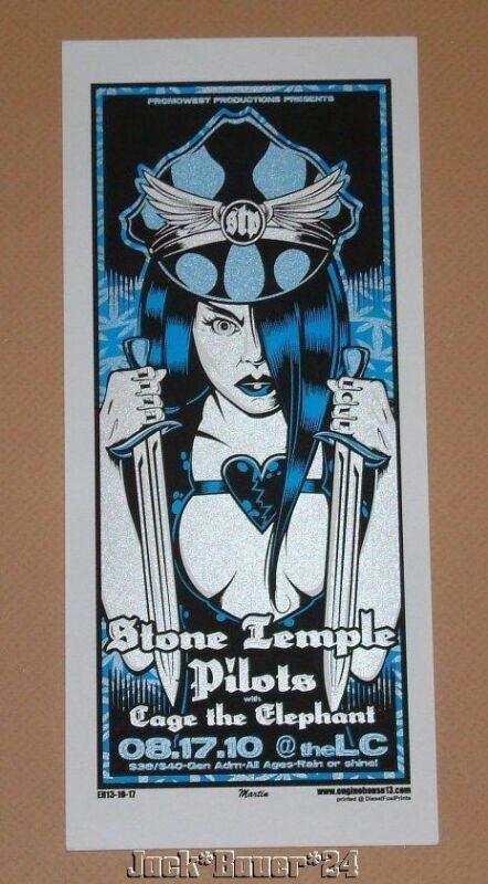 Stone Temple Pilots Columbus Mike Martin Poster Handbill 2010 Scott Weiland