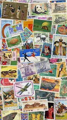 COLLECTION OF 1,000  BEAUTIFUL LARGE PICTORIAL STAMPS FROM ASIA!