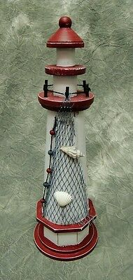 Wood Lighthouse - Seaside Nautical Theme Decor- whaling harbor bar light house