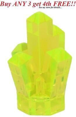 ☀️NEW LEGO TRANS Neon Green 5 Point pt Crystal Cave translucent Rock Gem Jewel ()