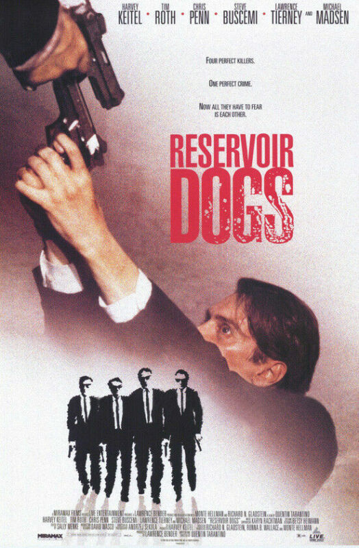 RESERVOIR DOGS MOVIE POSTER 27X40 QUENTIN TARANTINO
