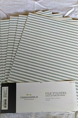 Threshold File Folders Letter Sz 12ct. Bluewhite Striped