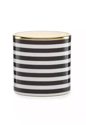 Kate Spade Everdone Lane Votive Candle Holder - NIB Black White Striped Black And White Striped Candle