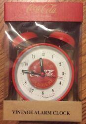 Coca-Cola Twin Bell Alarm Clock (Vintage Look) - BRAND NEW Red