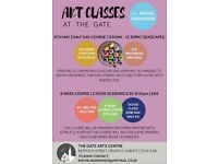 Half day art class this Saturday 6th May