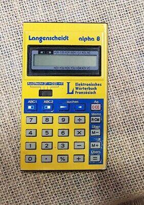 Langenscheidt Alpha 8 französisch Wörterbuch elektrisches  inkl.