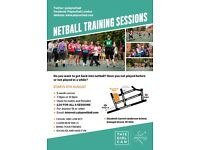 Back to Netball Training Sessions