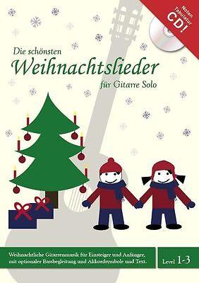 22 WEIHNACHTSLIEDER,Gitarre,mit NOTEN-TAB-CD/DVD,Melodiespiel mit Bassbegleitung