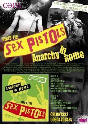 The Sex Pistols - Anarchy in rome ltd snot green vinyl - New & sealed  vinyl lp